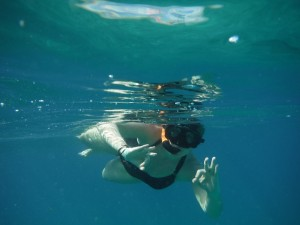 Holly snorkeling